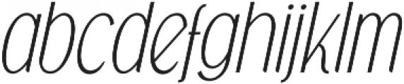 Falkin Sans Italic otf (400) Font LOWERCASE