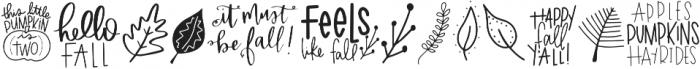 Fall Quotes Symbols otf (400) Font UPPERCASE