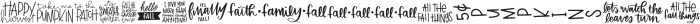 Fall Quotes Symbols otf (400) Font LOWERCASE