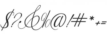 Fameliya Regular otf (400) Font OTHER CHARS