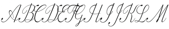 Fameliya Regular otf (400) Font UPPERCASE