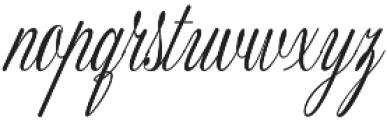 Fameliya Regular otf (400) Font LOWERCASE
