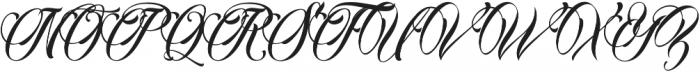 Familia Script otf (400) Font UPPERCASE