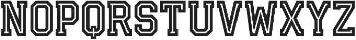 Fanatix Inline otf (400) Font UPPERCASE