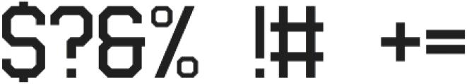 Fanatix Medium otf (500) Font OTHER CHARS