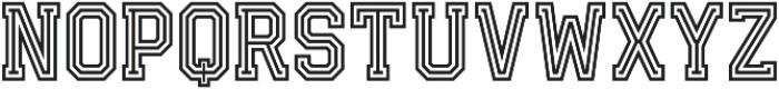 Fanatix Triline otf (400) Font UPPERCASE
