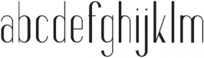 Fancy Light otf (300) Font LOWERCASE