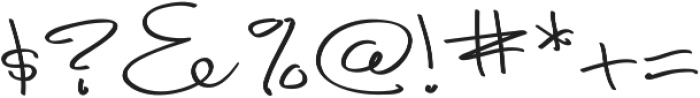 Fancy Signature Extras ttf (400) Font OTHER CHARS