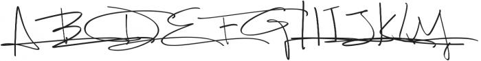 Fancy Signature Extras ttf (400) Font UPPERCASE