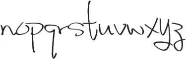 Fancy Signature Extras ttf (400) Font LOWERCASE