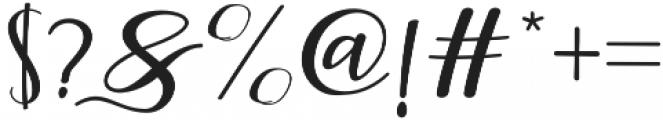 Faranisa Script Regular otf (400) Font OTHER CHARS