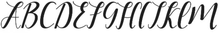 Faranisa Script Regular otf (400) Font UPPERCASE