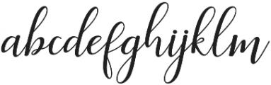 Faranisa Script Regular otf (400) Font LOWERCASE