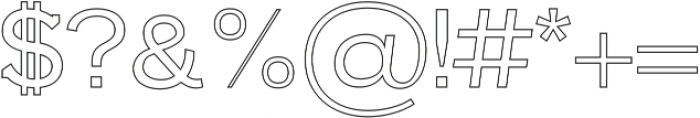 Farhan Outline otf (400) Font OTHER CHARS