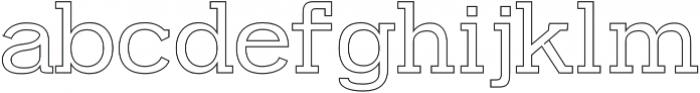 Farhan Outline otf (400) Font LOWERCASE