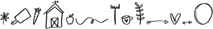Farmland Doodles Regular otf (400) Font UPPERCASE