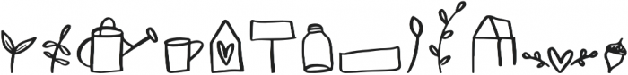 Farmland Doodles Regular otf (400) Font LOWERCASE