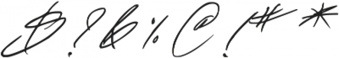 Fascinating Signature otf (400) Font OTHER CHARS