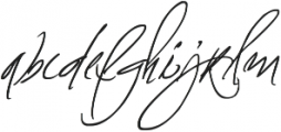 Fascinating Signature otf (400) Font LOWERCASE