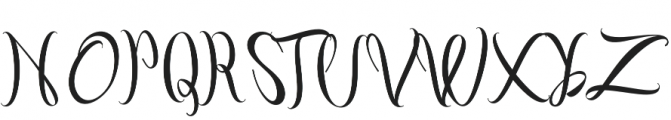 Fashion Regular otf (400) Font UPPERCASE