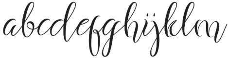 Fashion Regular otf (400) Font LOWERCASE