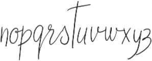 Fashion Style otf (400) Font LOWERCASE