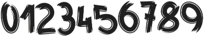 Fast Brush otf (400) Font OTHER CHARS