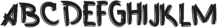 Fast Brush otf (400) Font LOWERCASE