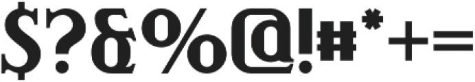 Fast-Food Regular otf (400) Font OTHER CHARS