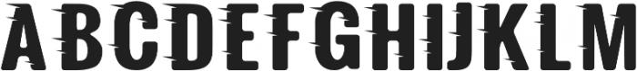 Fast Track Regular otf (400) Font UPPERCASE