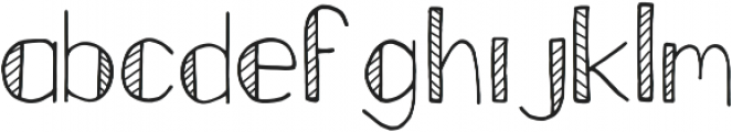 Fastback Stripes otf (400) Font LOWERCASE