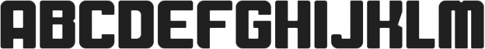 Fat Mecha Regular otf (800) Font UPPERCASE