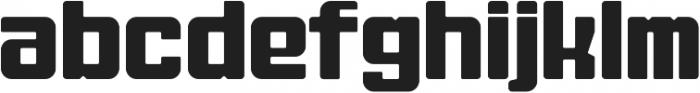 Fat Mecha Regular otf (800) Font LOWERCASE