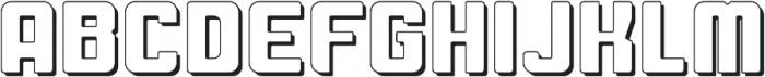 Fat Mecha S Regular otf (800) Font UPPERCASE