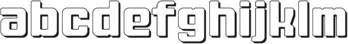 Fat Mecha S Regular otf (800) Font LOWERCASE