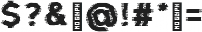 Fault Glitch otf (400) Font OTHER CHARS