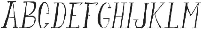 fanfarone-italique ttf (400) Font UPPERCASE