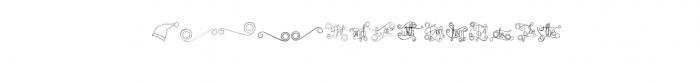 Fantasia Monoline Calligraphy And Bonus Font LOWERCASE