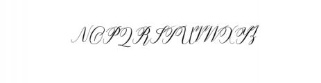 Fanya.ttf Font UPPERCASE