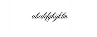 Fanya.ttf Font LOWERCASE
