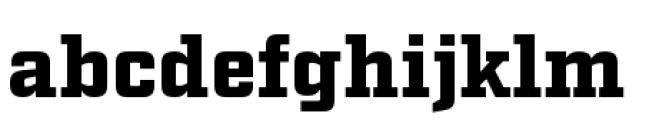 Factoria Black Font LOWERCASE