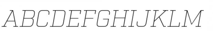 Factoria Thin Italic Font UPPERCASE