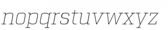 Factoria Thin Italic Font LOWERCASE