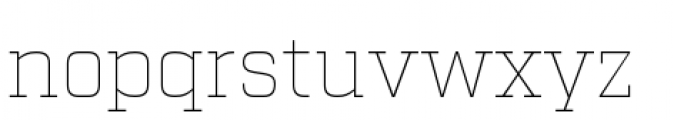 Factoria Thin Font LOWERCASE