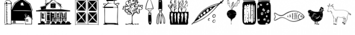 Farm Doodles Font UPPERCASE