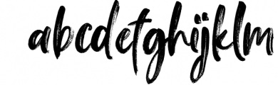 Falbench SVG & Brush Font Font LOWERCASE