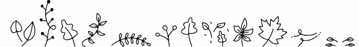 Falling Leaves - A Font Duo with Doodles Font LOWERCASE