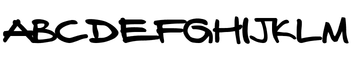 FAFERS True Type Handwriting Font Font UPPERCASE