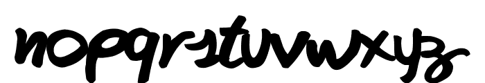 FAFERS True Type Handwriting Font Font LOWERCASE