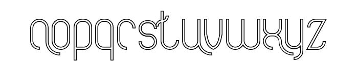 FALLINGINLOVEHollow Font LOWERCASE